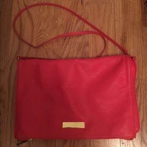 H&M Faux Leather Coral Crossbody Bag