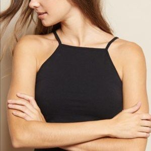 Garage Tops - Garage black halter top