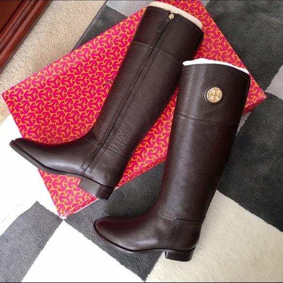 5c5bf06c9957 ... sale sale tory burch junction riding boots coconut 41fc9 321ce
