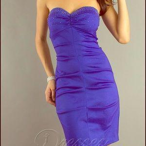 Nordstrom Dresses & Skirts - Royal Blue Satin Spaghetti Strap Dress
