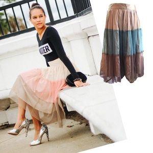 Twelve by Twelve Dresses & Skirts - Very Fun Twelve by Twelve Tulle Tri-Color skirt