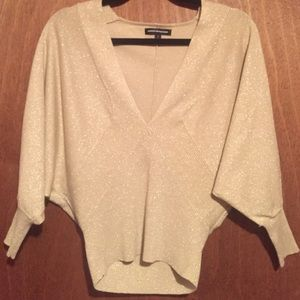 Express gold shimmery sweater blouse-size small