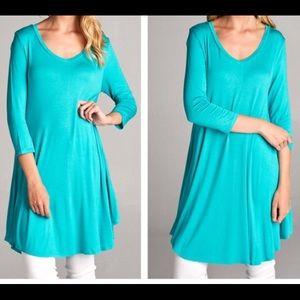 Fashionomics Tops - Ocean Blue Tunic/Dress