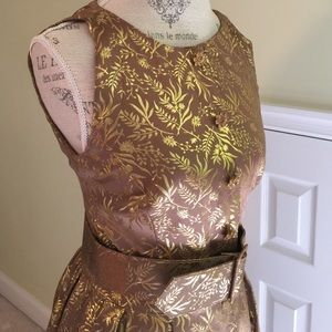 33618587 Chetta B Dresses | Gold Cocktail Dress | Poshmark