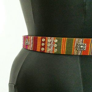Vintage Accessories - AWESOME VINTAGE ARTISAN CRAFTED LEATHER BELT!