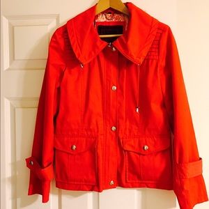 Guess Jackets & Blazers - GUESS Red Rain Coat with Silver GUESS Buttons