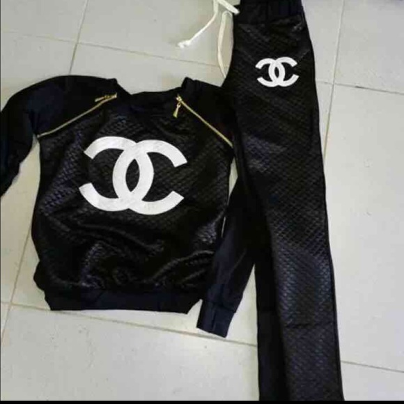 chanel tracksuit. chanel pants - chanel tracksuit top + ❤️ w