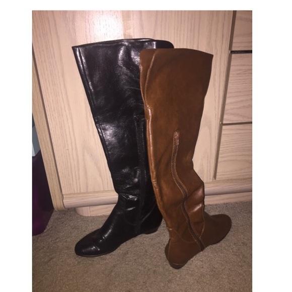 33 aerosoles shoes aerosoles black and brown knee