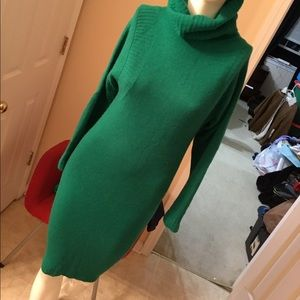 Bloomingdale's Dresses & Skirts - Bloomingdales green  Sweater Dress