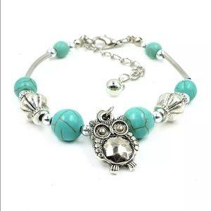 3 for $18 NEW Tibetan style owl charm bracelet