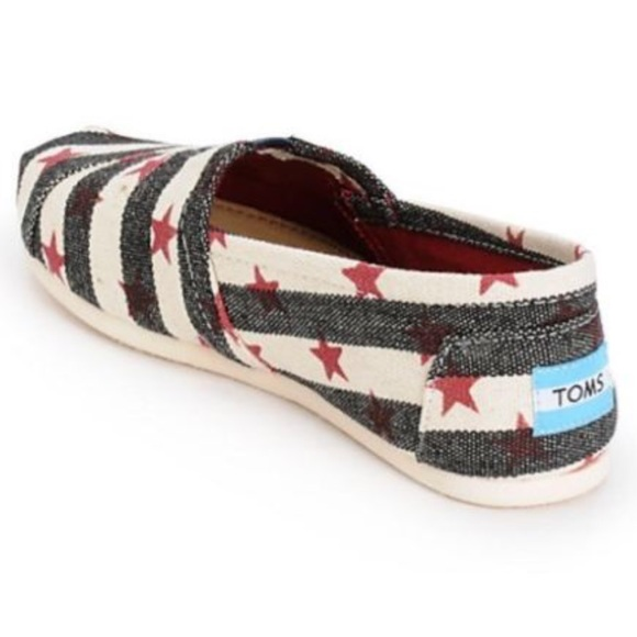 Toms Shoes   Toms Red White Blue Canvas