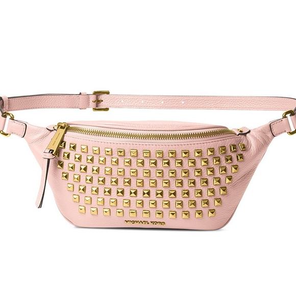 b975e13054a4 MICHAEL Michael Kors Bags | Michael Kors Rhea Leather Studded Belt ...