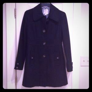 Tulle black wool coat size small
