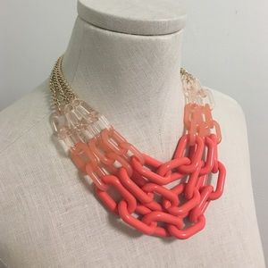 Lucite + Acrylic Chain Link Necklace
