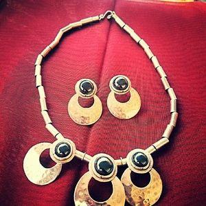 Two piece beautiful African art jewelry set