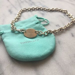 Authentic Tiffany & Co. Oval Tag Necklace