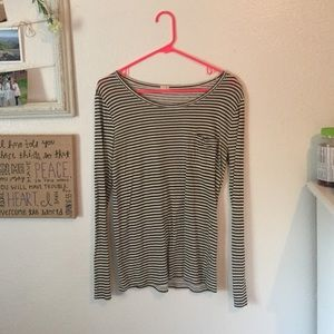 Striped long sleeve j Crew shirt