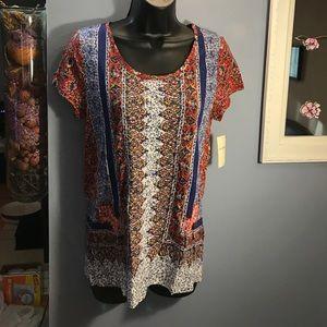 "Lucky brand ""boho"" style t shirt. BNWT 39.50$"