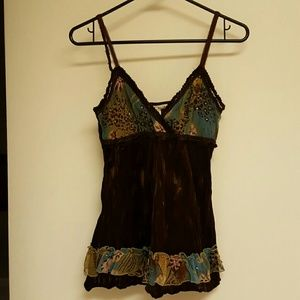 Do & Be Tops - Velvety Boho Camisole