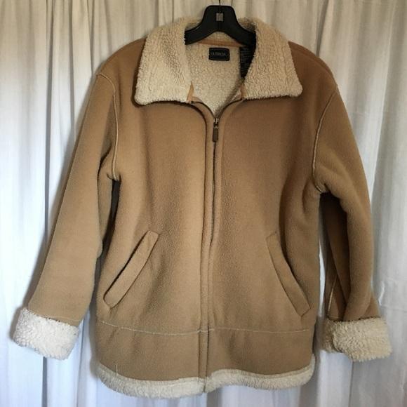 fb94f21fc Camel Fleece Jacket Sz S Read listing