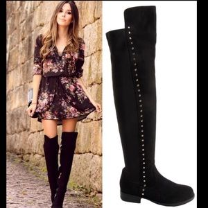 Leoninus Shoes - 🏆HOST PICK🏆Over-the-Knee Side Studs Boots