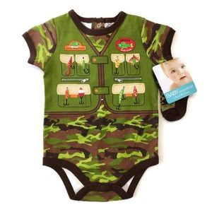 Baby Essentials Other - SIZE 6M AVAILABLE Fishing Onesie With Socks