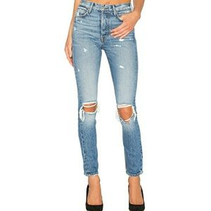 Karolina high rise skinny ripped jeans GRLFRND NEW