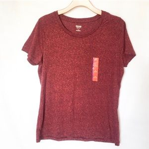 Mossimo Supply Co Tops - {Mossimo} Wine Colored Basic Short Sleeve