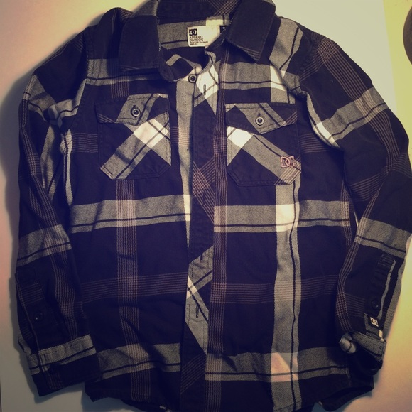 814b77798 DC Shirts & Tops | Plaid Button Up Boys 6 7 | Poshmark