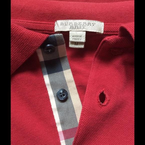 3fbc420f Burberry Shirts | Authentic Brit Mens M Red Polo Tshirt | Poshmark