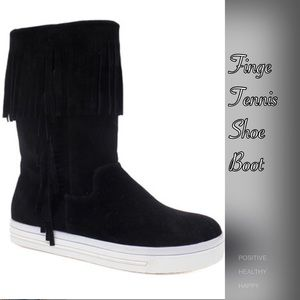 Shoes - Fringe Tennis Shoe Boot