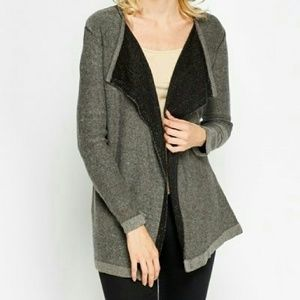 Sweaters - Open Front Draped Cardigan