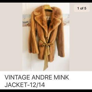 andre Jackets & Blazers - VINTAGE ANDRE MINK JACKET-12/14