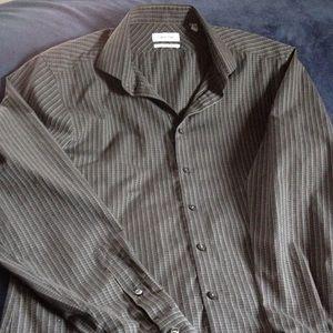 Calvin Klein button up dress shirt Size 16 34/35