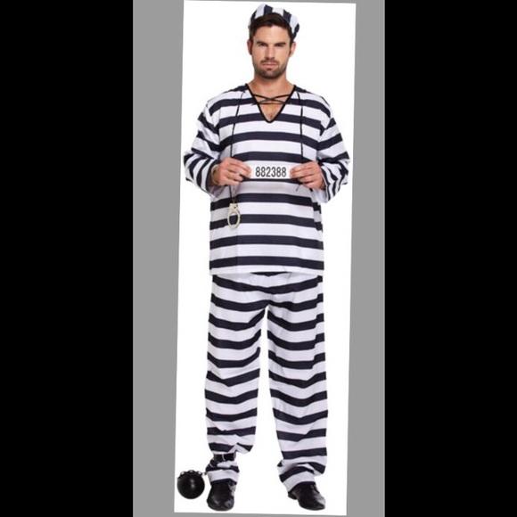 Menu0027s Jailbird Halloween Costume (OSFA)  sc 1 st  Poshmark & Other | Mens Jailbird Halloween Costume Osfa | Poshmark