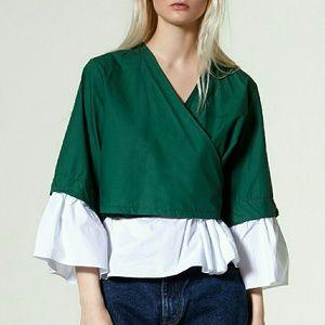 Tops - STORETS wrap blouse