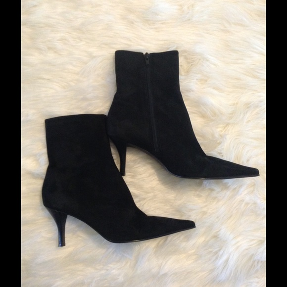 Marcello Paci Black Suede Pointy Toe