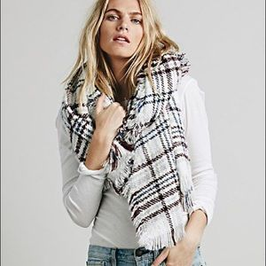 Free People Oversized Plaid Scarf