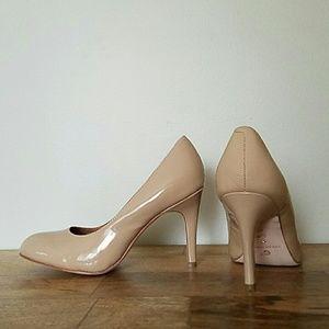 Corso Como Shoes - Tan/ Beige Round Toe Pumps
