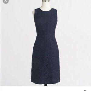 J.Crew floral lace shift dress