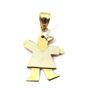 Jewelry - 14k Two Tone Gold Baby Girl Charm Pendant