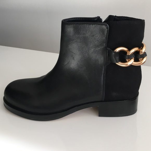 79a725b64cb86d Sam Edelman  Chester  Chain Leather   Suede Boots