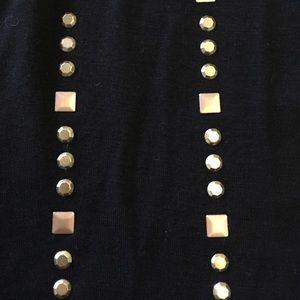 Cynthia Rowley Tops - Studded black top