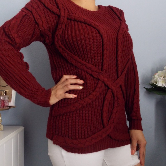 84% off atmosphere Sweaters - Burgundy Color Sweater from Brenda's ...