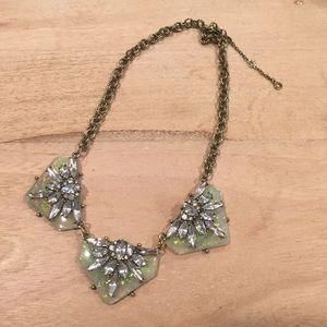 Baublebar gold statement necklace with studs