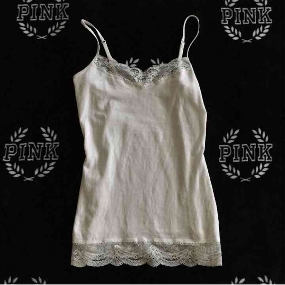 Express Tops - NWOT express white lace trim tank S