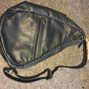 "Ameribag Handbags - NWT- leather ""healthy back"" backpack by Ameribag"