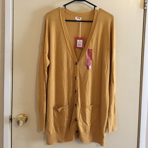 Mossimo - Mossimo mustard yellow boyfriend cardigan from Amy's ...