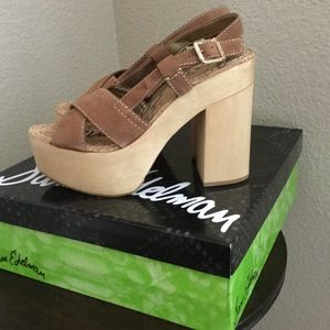 Sam Edelman Shoes - New Sam Edelman Mae Wooden Platform Heel Sandals