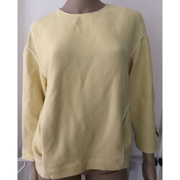 Zara - Cute Zara Oversized Chunky Light Yellow Sweater from ...